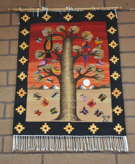 Oaxaca Weaving Textiles Zapotec Birds Tree