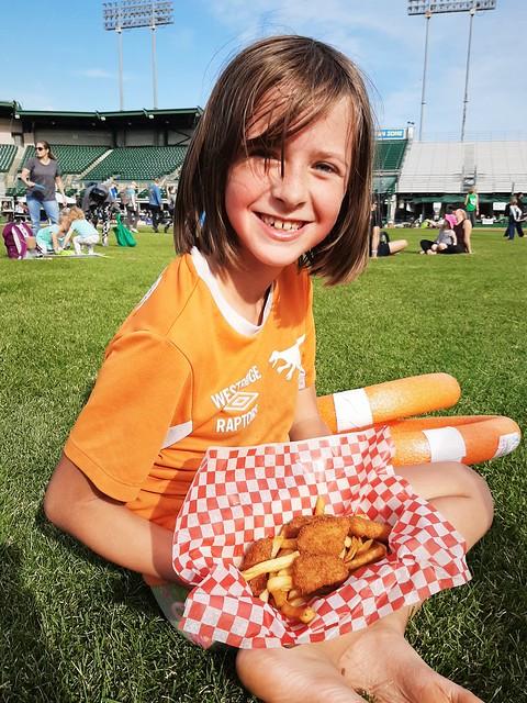 Rose Enjoying Her Nuggets & Fries