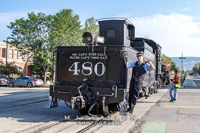 D&SNGRR 480   BLW 2-8-2 Steam   D&SNGRR