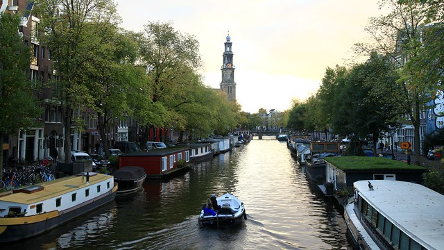 Prinsengracht Amsterdam - View to Westerkerk