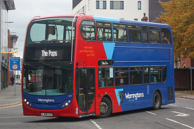 Warrington's Own Buses 317 (LJ08 CYP)