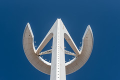 The Monjuic Tower, looking up