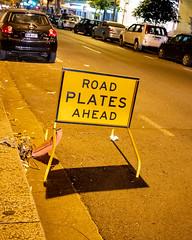 Road Plates Ahead