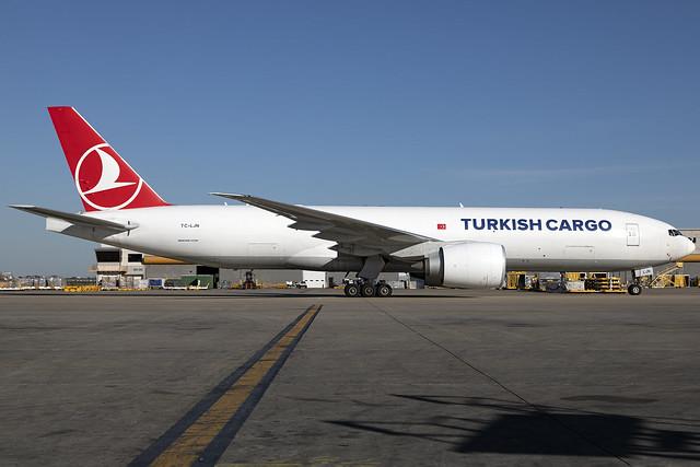 TC-LJN - Boeing 777-FF2 - Turkish Cargo - KATL - Oct 2021