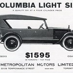 Tue, 2021-10-19 18:04 - This ad for the Columbia Light Six appeared in the 1926 Hockey Pictorial Book of Champions.