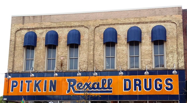NI, Whitehall-U.S. 31(Old) Pitkin Rexall Drugs Sign