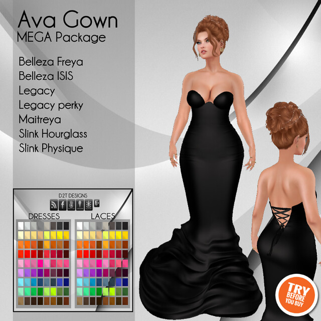 [D2T Designs] Ava Gown #MegaPack ADD
