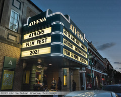 Athena Cinema Marquee Blue Hour Athens International Film Fest 2021