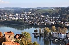 Ausblick auf die Mu00fcndung des Inn in die Donau, 211017