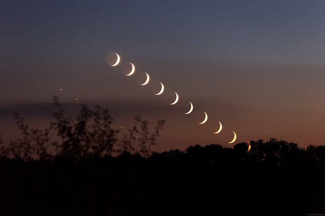 Mond + Venus Sequenz 09.10.2021 - Moon + Venus sequence