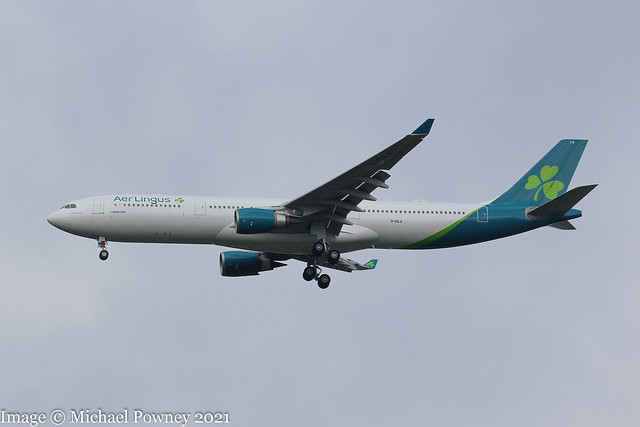 G-EILA - 2010 build Airbus A330-302E, on approach to Runway 23R at Manchester