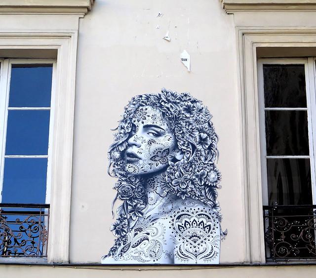 Portrait - Street art by Aydar - Paris 5ème