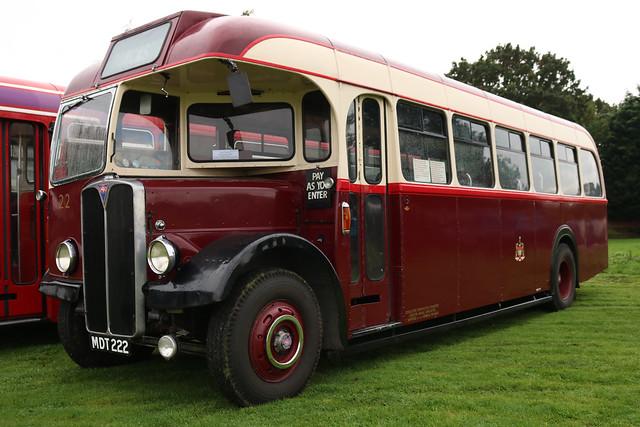 Doncaster Corporation Transport: 22 MDT222 AEC Regal III/Roe