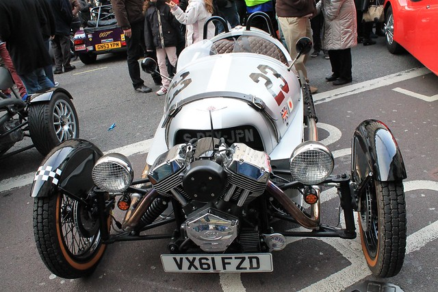 Morgan 3 wheeler - Regent Street, London 2012