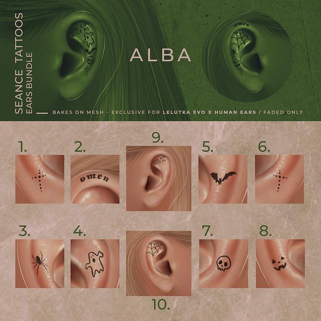 ALBA - Seance Tattoos Ears Bundle @ Harajuku