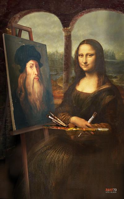 MONA LISA - I painted him