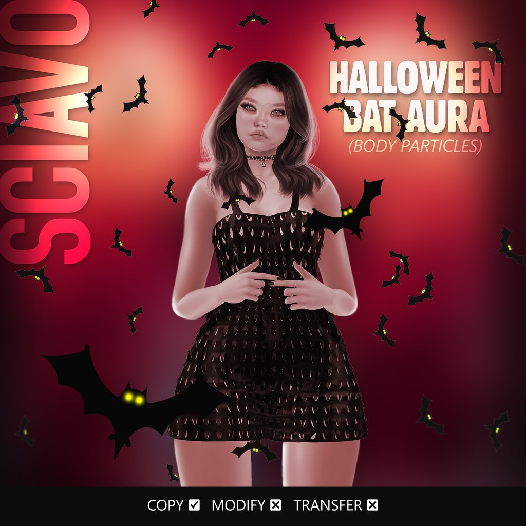 NEW!!! Halloween Bat Aura (Body Particles)