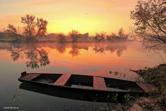 Misty morning on the Korana river
