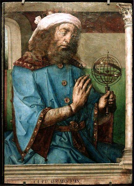 VCSE - Ptolemaiosz, az ókor legnagyobbnak nevezett csillagászat egy középkori ábrázoláson - Van Gent képe