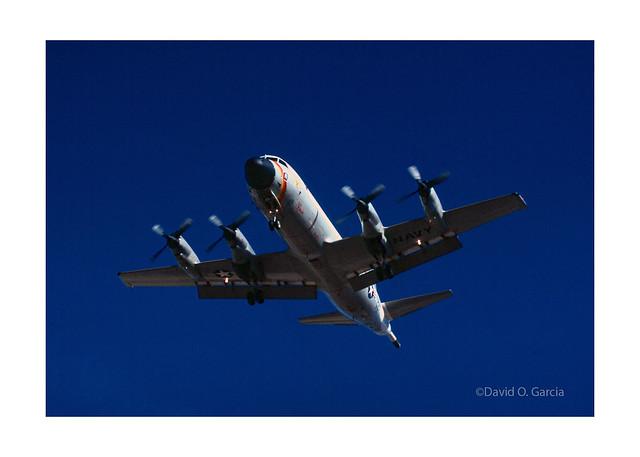 US Navy Lockheed P-3 on Final