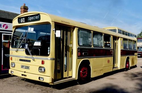ARY 225K 'Leicester City Transport' No. 225. SCANIA BR111MH / MCW METRO-SCANIA on Dennis Basford's railsroadsrunways.blogspot.co.uk'