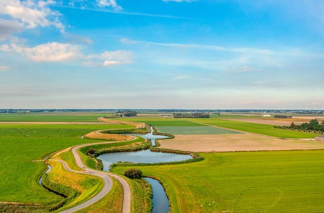 Westfriese Omringdijk near Eenigenburg, Holland.