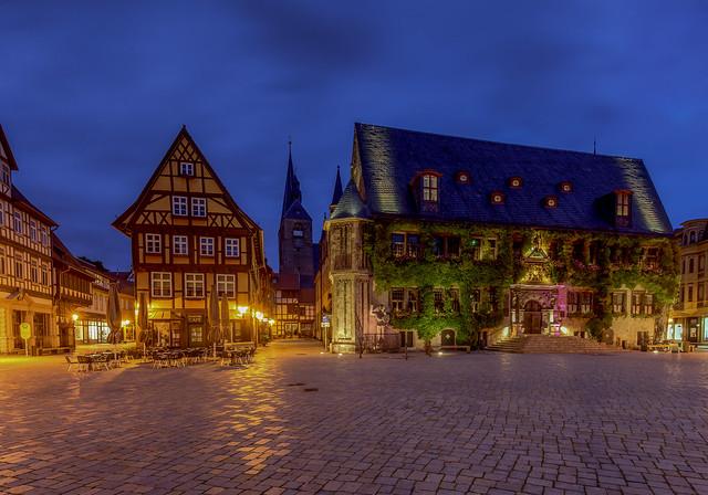 Historical old town of Quedlinburg / Germany 2021