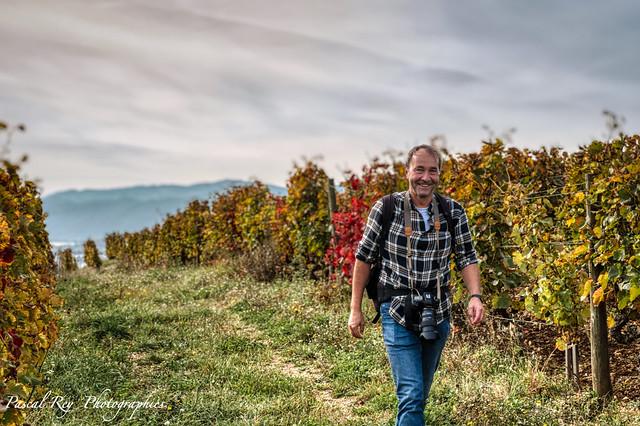 Dans les vignobles de Crozes-Hermitage avec l'ami Nerwaque.  https://flic.kr/ps/GSRma