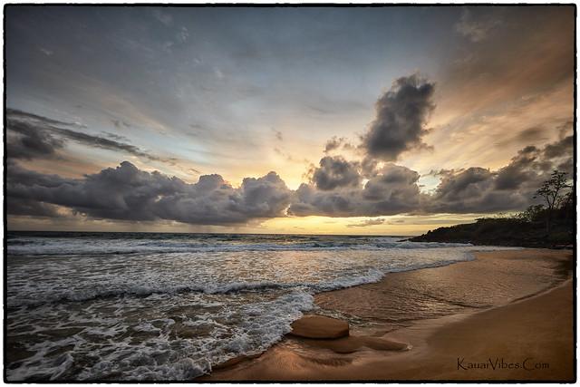 Sunrise, Paliku Beach, Kealia, Kauai.