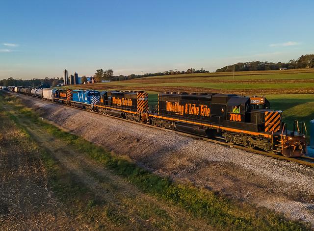 Wheeling & Lake Erie WLE 7014 (SD40-2) Train:222 Dalton, Ohio