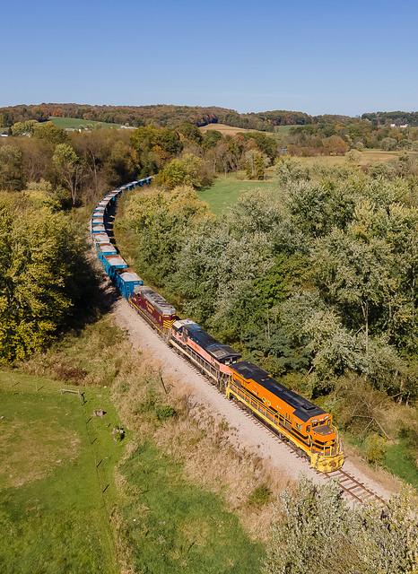 Ohio Central OHCR 4099 (GE B23-7R) Train:CNL1 Barrs Mills, Ohio