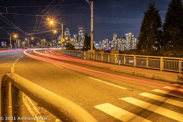 Granville Bridge car light streaks