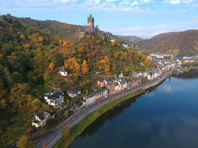 Autumn at Burg Cochem, Germany