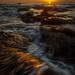 Sunrise at Beadnell Bay, Northumberland, North East England, United Kingdom