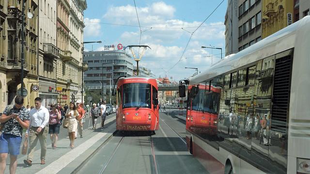 2020-07-23 Praha Tramway Nr.9121