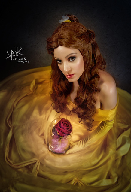 Grace as Belle, from Beauty and the Beast, by SpirosK photography (IV: her rose)