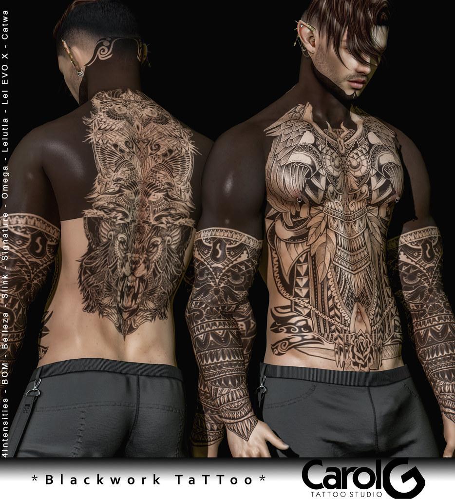 Blackwork Male TaTToo [CAROL G]