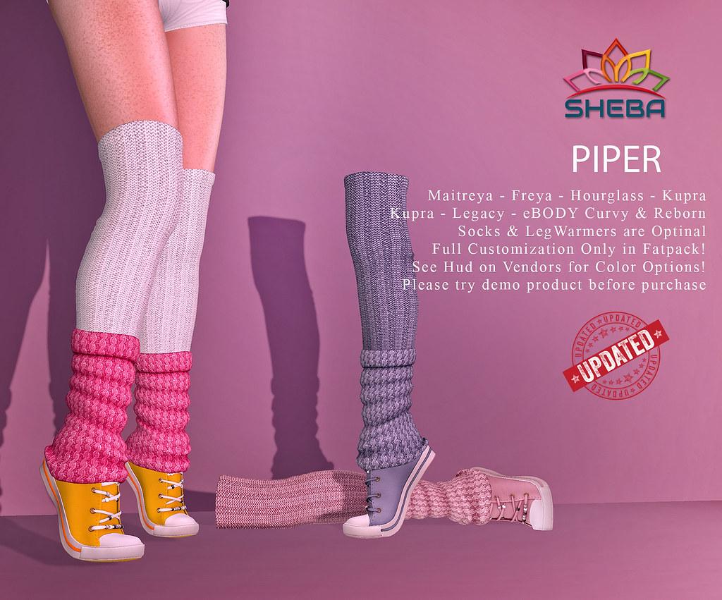 [Sheba] Piper Sneaker w socks UPDATED