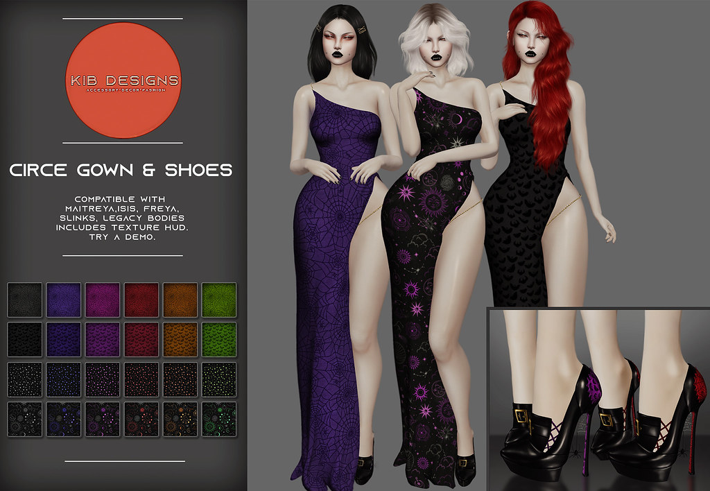 KiB Designs – Circe Gown and Shoes @Beauty Event 21st oct