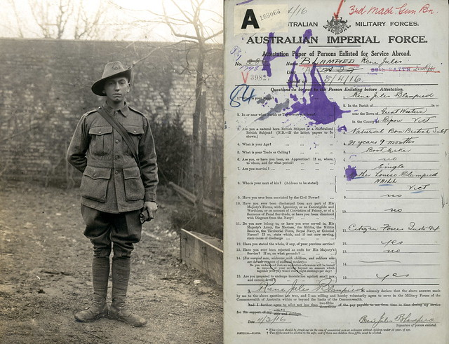 Private Rene Jules Blampied, 3rd Machine Gun Battalion