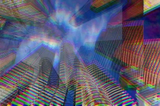 jumbled city