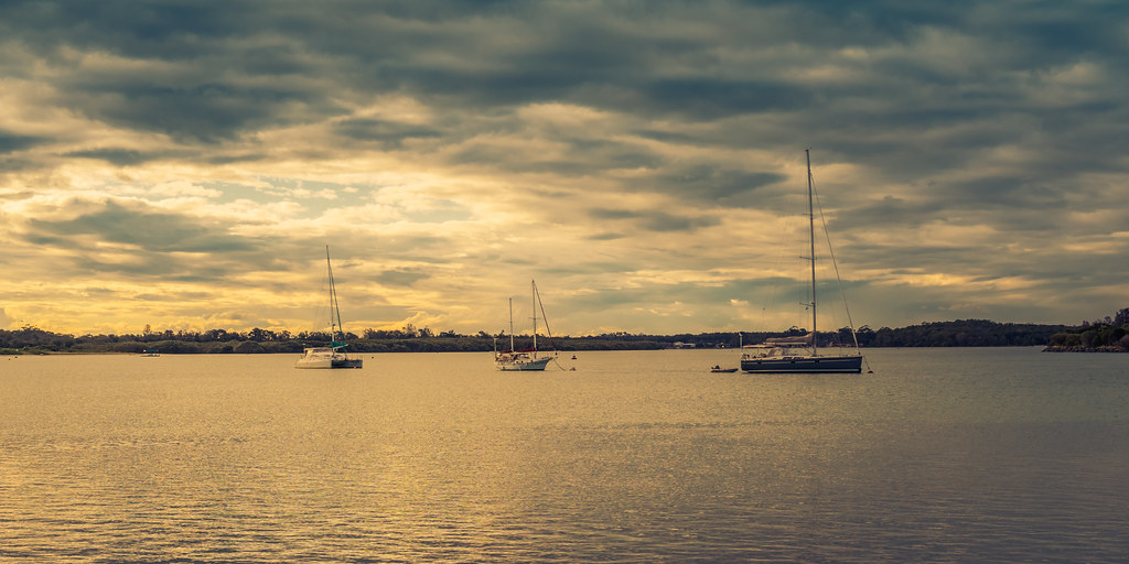 Late afternoon on the Hastings River, NSW