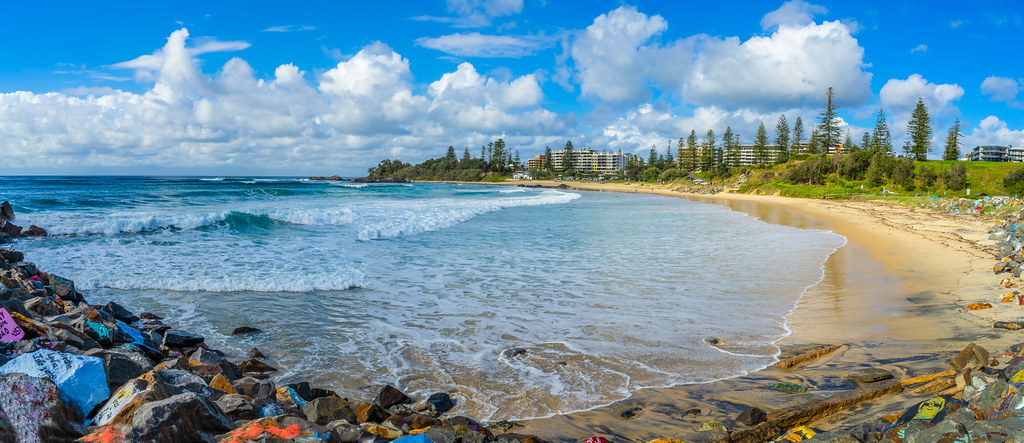 Summer day at Town Beach, Port Macquarie, NSW