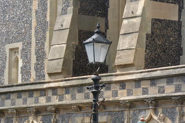 lamp and old building