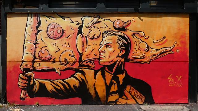 Sr. X graffiti, Stockwell