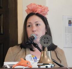 Hannah Runs A Great Rotary Club Meeting