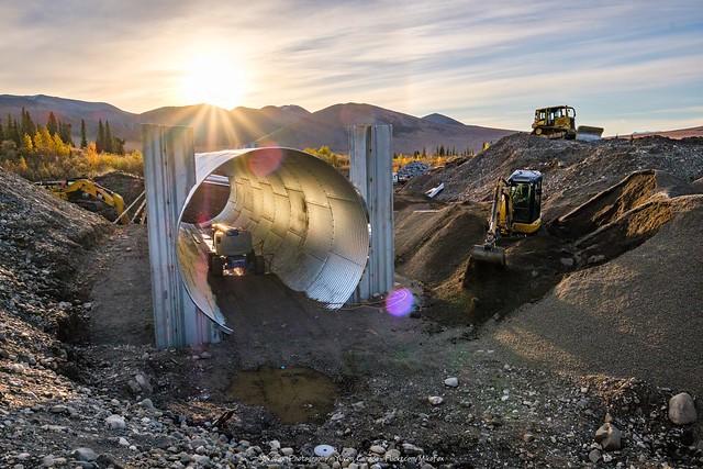 Huge Culvert Installation at North Cache Creek - 2