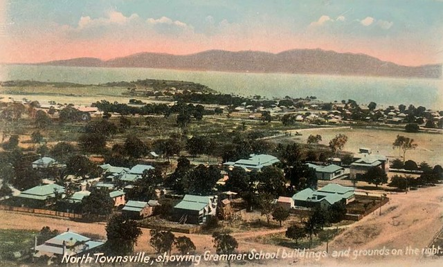 North Townsville, showing Grammar School buildings and grounds on the right - circa 1910