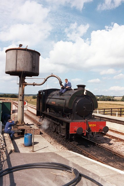 Saddle Tank No24 at Northiam on 25 Aug 1998