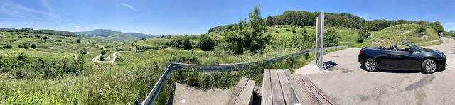 Panorama-Blick vom Kaiserstuhl
